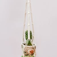 Macrame Plant Holder 24 inches 5mm - Hanging Planter - Thick White