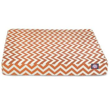 Chevron Orthopedic Memory Foam Rectangle Dog Bed by Majestic Pet Products