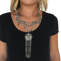 On the Edge Silver Necklace