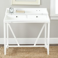 Safavieh Wyatt White Writing Desk | Overstock.com