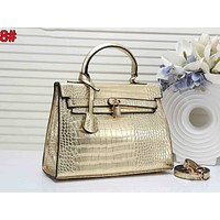 Hermes Newest Fashion Women Shopping Leather Handbag Tote Crossbody Satchel Shoulder Bag 8#
