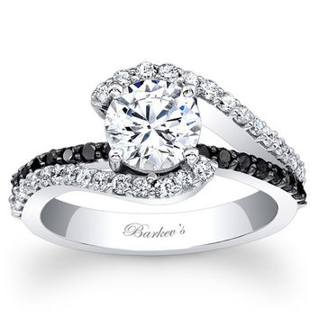 Shop Swirling Diamond Engagement Ring on Wanelo