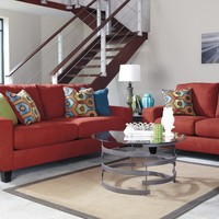 93903 - The Sagen Living Room Set - Red