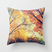 Autumn Embrace Throw Pillow by Ann B.
