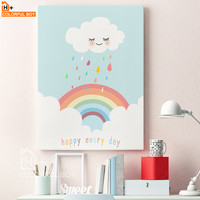 Happy Every Day - Rainbow Canvas Print
