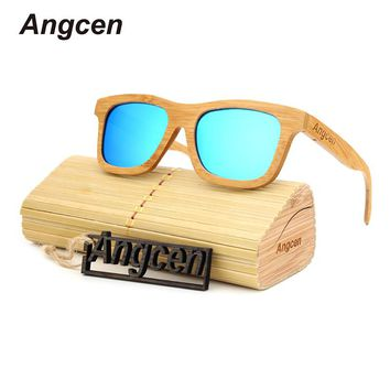 Angcen 2017 New sunglasses women sunglasses men oculos glasses hot ray sunglass reading glasses clear wood ladies sunglasse ZA18