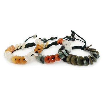 New Fashion Men/Women Natural Genuine Jade Bead Bracelet Handmade Jewelry