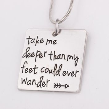 Take Me Deeper Pendant Necklace