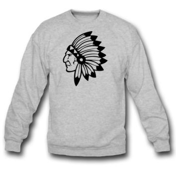 chief indian  crewneck sweatshirt