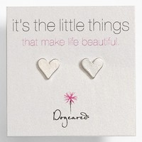 Women's Dogeared 'It's the Little Things' Heart Stud Earrings