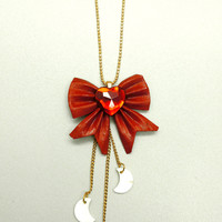 Sailor Moon Inspired Bow Necklace with by FantastiquePlastique