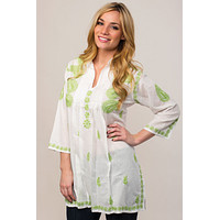 Karishma Embroidered Tunic Top