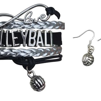 Volleyball Jewelry Set ( Bracelet & Earrings)