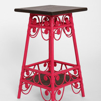 Magical Thinking Rattan Scroll Side Table
