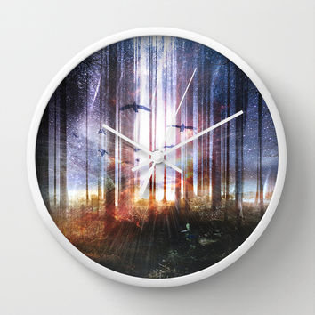 Absinthe forest Wall Clock by HappyMelvin