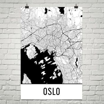 Oslo Norway Street Map Poster