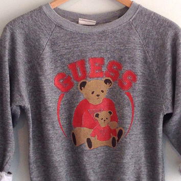 80s vintage Guess bear Sweatshirt