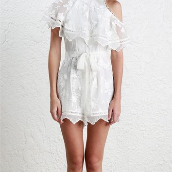 Zimmermann Mercer Bird Floating Playsuit