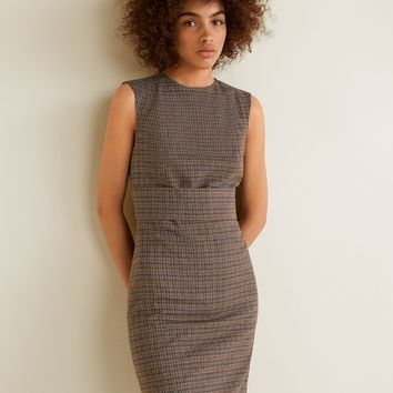 Check shift dress - Women | MANGO United Kingdom