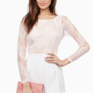 Mademoiselle Lace Romper $70