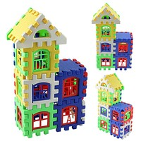 24pcs Mini Building Blocks Baby Toys Construction Models 3D Learning Educational Bricks Kids Baby Toys For Children Baby Toy