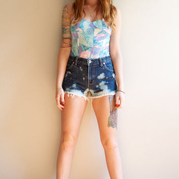 90s XS High Waisted Hipster Bleached Ombre by NoteworthyGarments