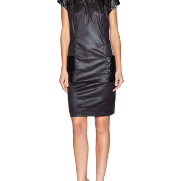Dress with Quilted Details - Black