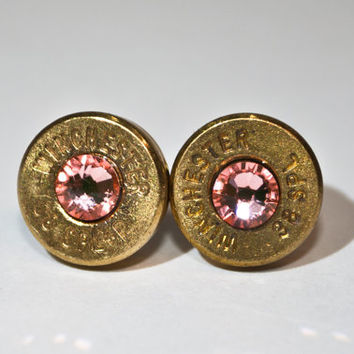 Bullet Studs -Gunpowder and Glitz- Brass and Peach Rose
