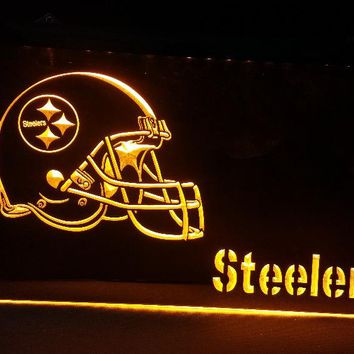 b-141 Pittsburgh Steelers beer bar pub club 3d signs LED Neon Light Sign man cave