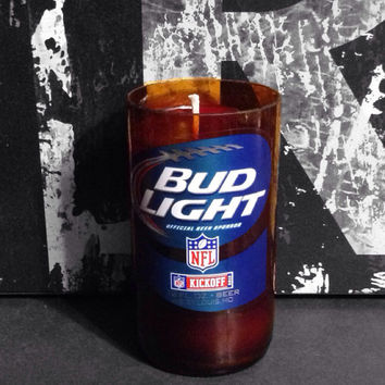 Bud Light NFL Beer Bottle Candle