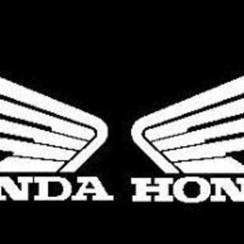 Pair of Honda wings  Logo Vinyl Sticker Decal Car Truck Windon Wall Laptop notebook