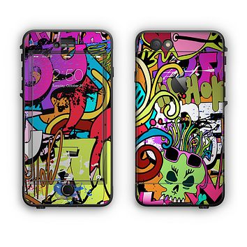 The Vibrant Colored Vector Graffiti Apple iPhone 6 LifeProof Nuud Case Skin Set