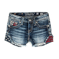 Miss Me Girls 7-16 Americana Denim Shorts | Dillards.com