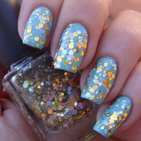 Glitter nail polish  Touch Of Vintage gold and by EmilydeMolly