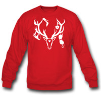 18 deer bachelor party fun funny love stag nigh SWEATSHIRT CREWNECK