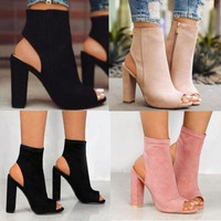Adelia Open Toe booties