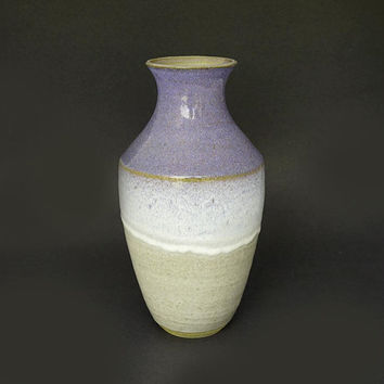 Ceramic vase, tall vase, purple vase, handmade, tall pottery vase, purple vase