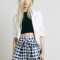 Free People Womens Gridlock Ikat Skort