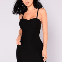 Ena Mini Dress - Black