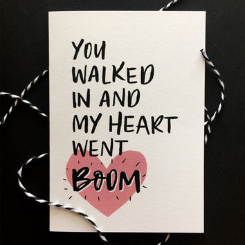 Hamilton Love Card | Musical. Quote. Love. Valentines Day. Anniversary. Wedding. Relationship.