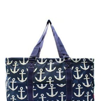 Utility Tote Large - Anchor Print