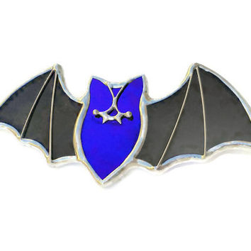 Halloween Bat Wings brooch pin pendant or ring Deep Purple Darkside Gothic jewelry Alternative fashion statement piece for chiroptera lovers