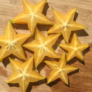 Star Fruit Starfruit Carambola Averrhoa Hart variety Tropical Tree Fresh Seeds