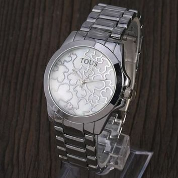 TOUS 2018 new trend fashion wild quartz watch F-YY-ZT silver