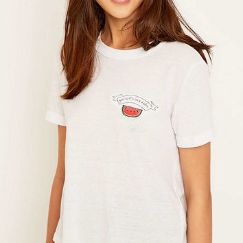Melon Romance Ringer T-shirt - Urban Outfitters