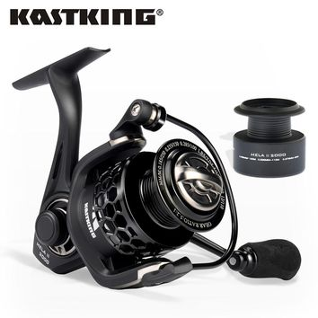 KastKing Mela II Lighter and Stronger Fishing Reel with Spare Spool 11 Ball Bearing Pesca Spinning Wheel