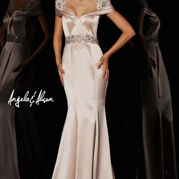 Angela & Alison 51034 Cap Sleeve Prom Pageant Dress Evening Gown SALE