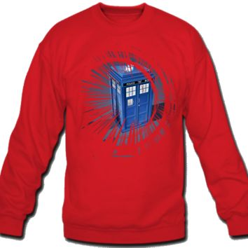 Doctor Who Sweatshirt Crew Neck Police Box