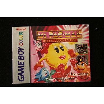 Ms. Pac-Man Special Color Edition Manual
