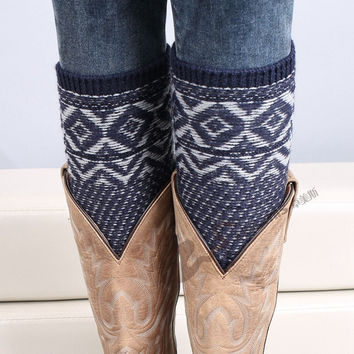 New Autumn/winter Crochet Leg Warmer Woman Knit Boot Socks Botas Femininas Warm Jacquard Weave Bohemia Boot Cuffs Gaiters